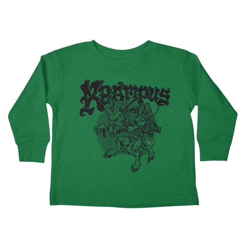 Krampus (Black Print) Kids Toddler Longsleeve T-Shirt by Octophant's Artist Shop