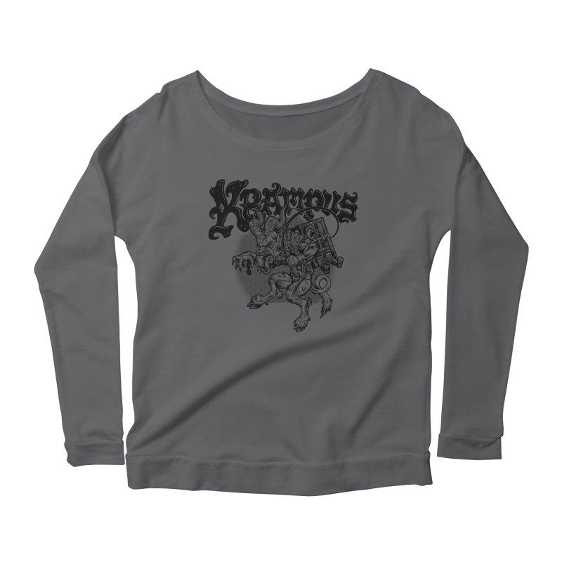 Krampus (Black Print) Women's Scoop Neck Longsleeve T-Shirt by Octophant's Artist Shop