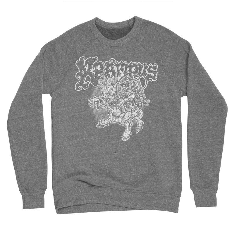 Krampus (White Print) Women's Sponge Fleece Sweatshirt by Octophant's Artist Shop