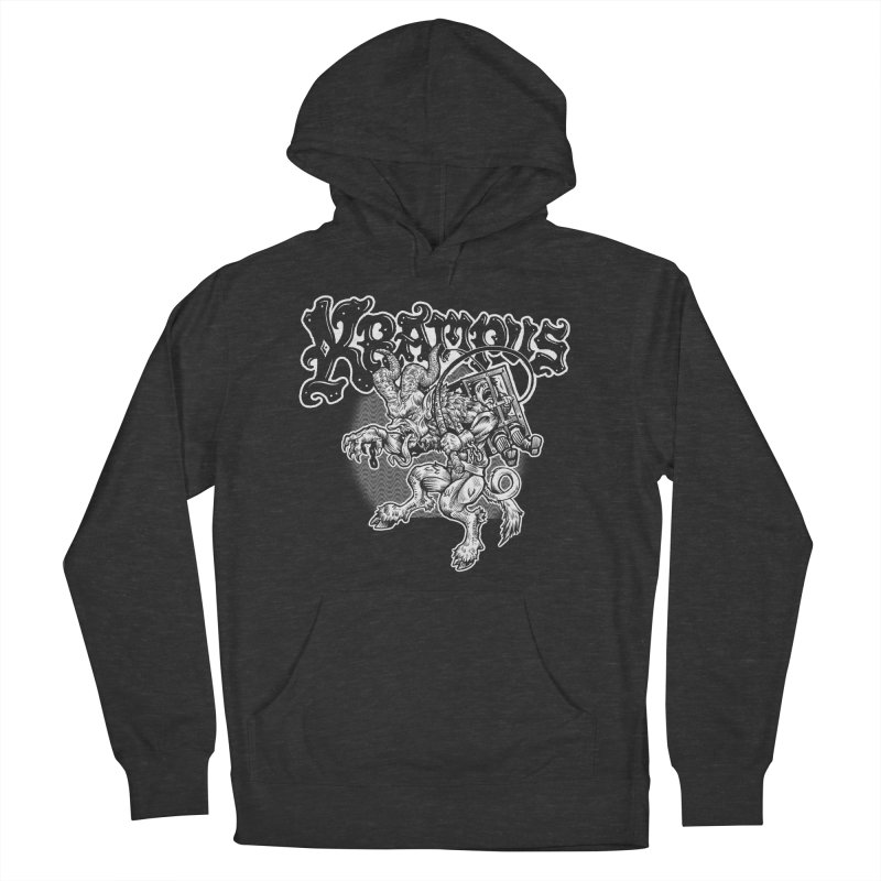 Krampus (White Print) Men's French Terry Pullover Hoody by Octophant's Artist Shop