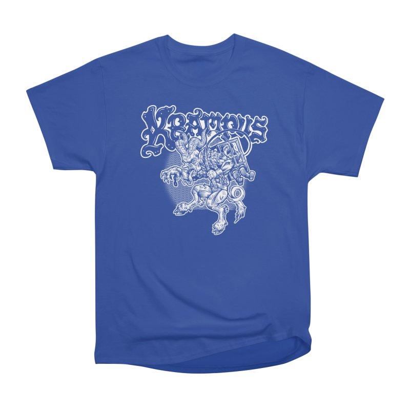 Krampus (White Print) Men's Heavyweight T-Shirt by Octophant's Artist Shop