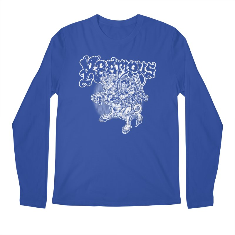Krampus (White Print) Men's Regular Longsleeve T-Shirt by Octophant's Artist Shop