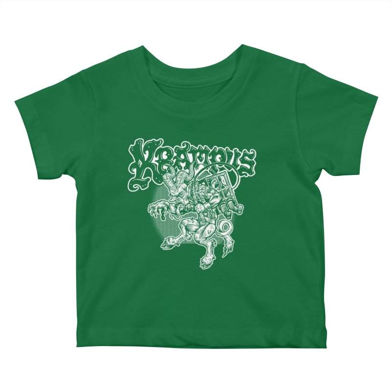 Krampus (White Print) Kids Baby T-Shirt by Octophant's Artist Shop