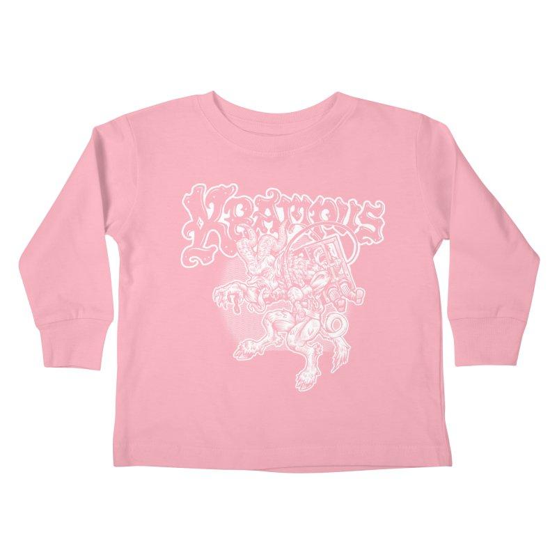 Krampus (White Print) Kids Toddler Longsleeve T-Shirt by Octophant's Artist Shop