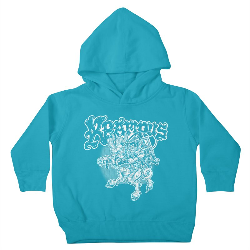 Krampus (White Print) Kids Toddler Pullover Hoody by Octophant's Artist Shop