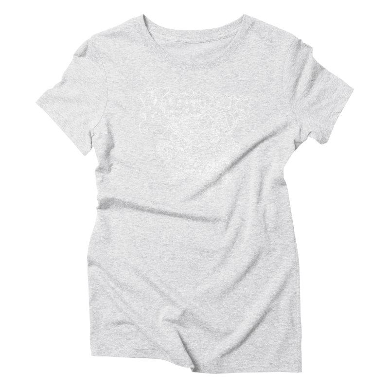 Krampus (White Print) Women's Triblend T-Shirt by Octophant's Artist Shop