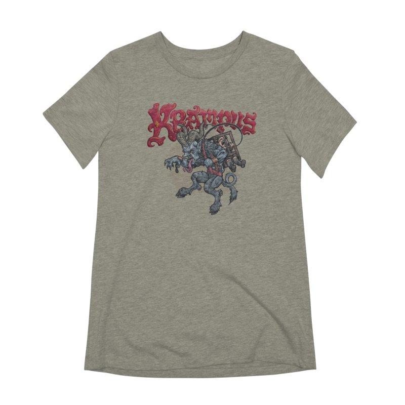 Krampus (Color) Women's Extra Soft T-Shirt by Octophant's Artist Shop