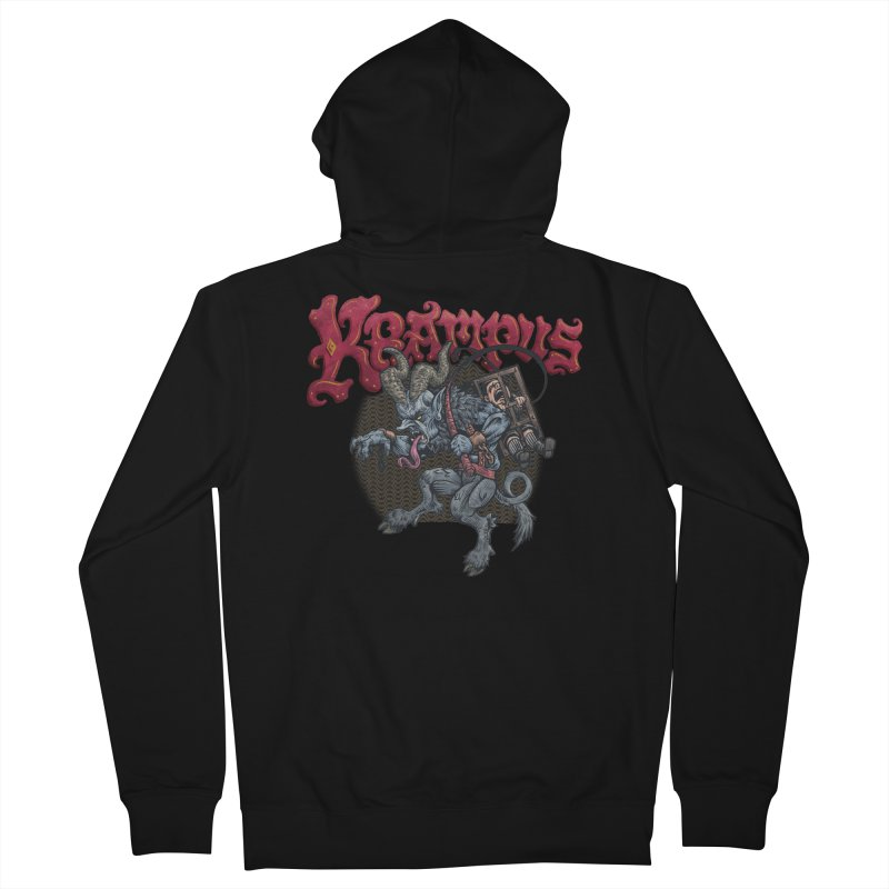 Krampus (Color) Women's French Terry Zip-Up Hoody by Octophant's Artist Shop