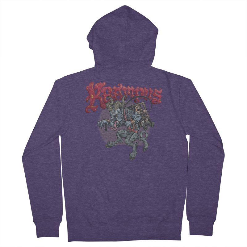 Krampus (Color) Men's French Terry Zip-Up Hoody by Octophant's Artist Shop
