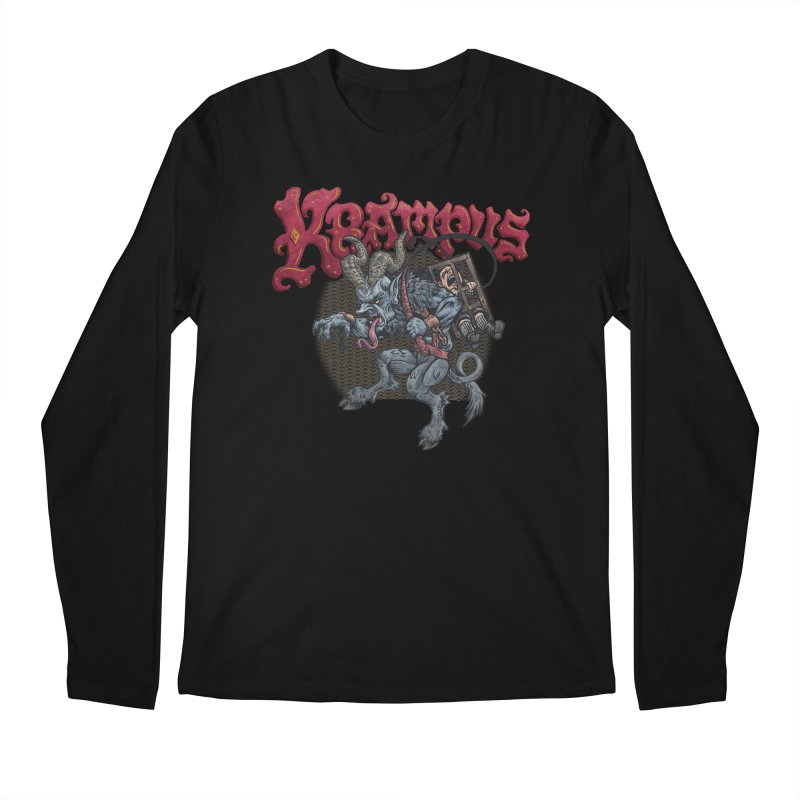 Krampus (Color) Men's Regular Longsleeve T-Shirt by Octophant's Artist Shop