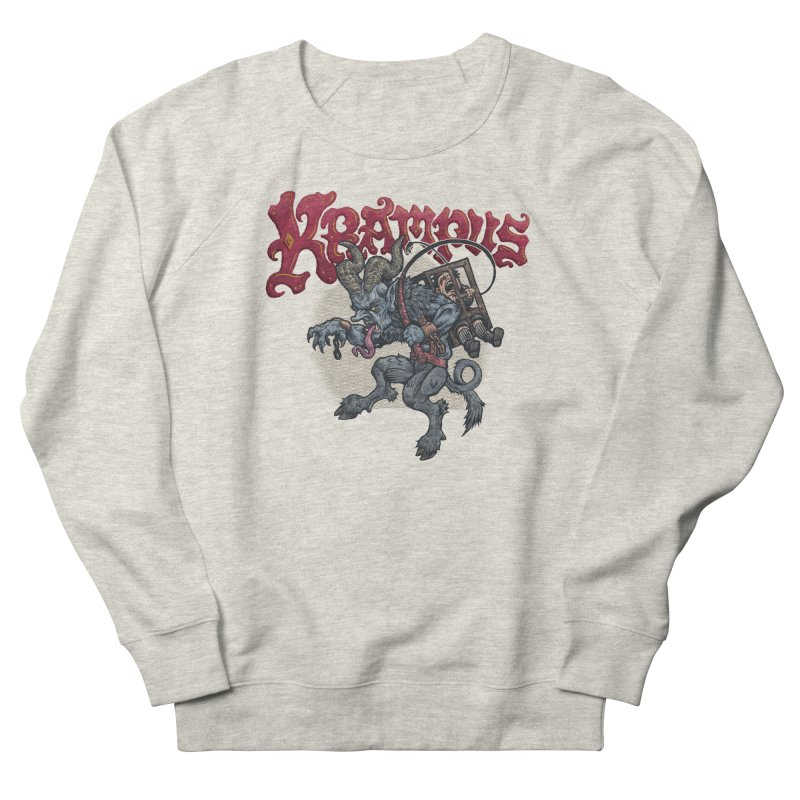 Krampus (Color) Men's French Terry Sweatshirt by Octophant's Artist Shop