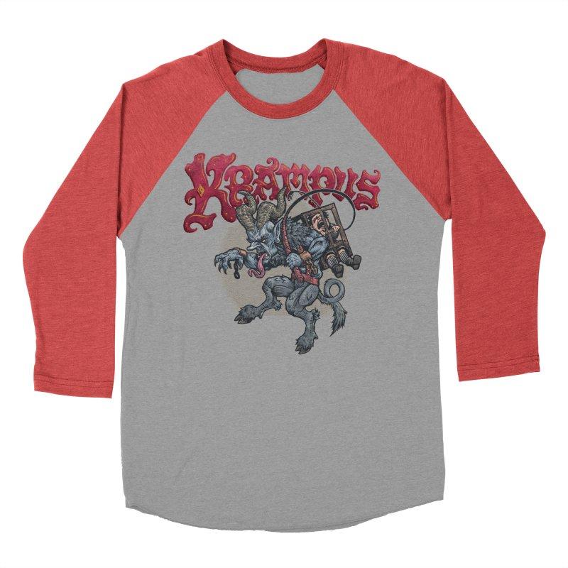 Krampus (Color) Women's Baseball Triblend Longsleeve T-Shirt by Octophant's Artist Shop