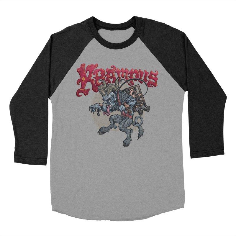 Krampus (Color) Men's Baseball Triblend Longsleeve T-Shirt by Octophant's Artist Shop