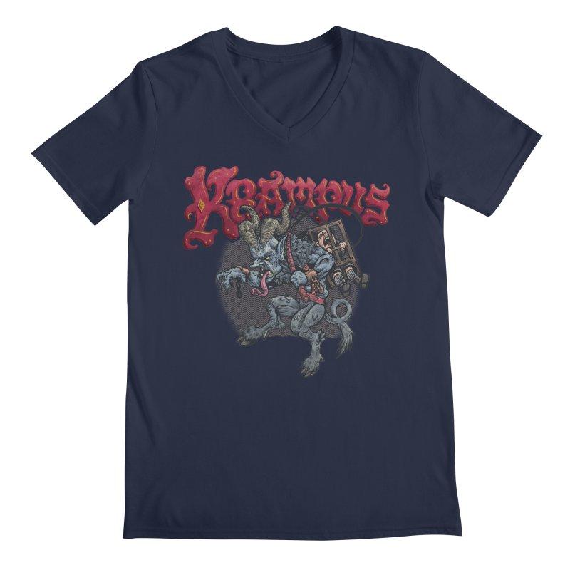 Krampus (Color) Men's Regular V-Neck by Octophant's Artist Shop