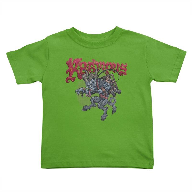 Krampus (Color) Kids Toddler T-Shirt by Octophant's Artist Shop