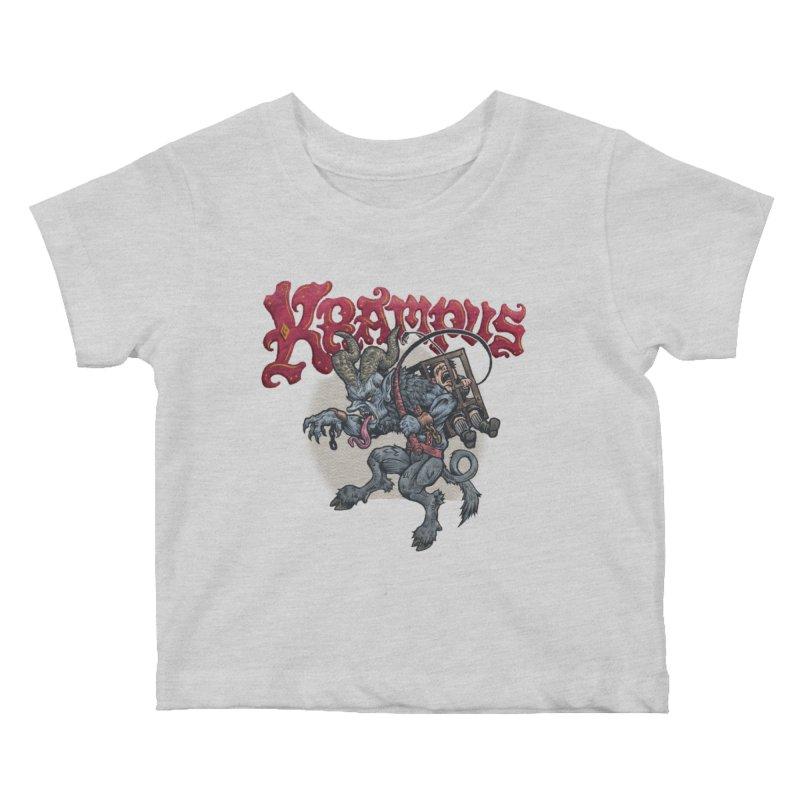 Krampus (Color) Kids Baby T-Shirt by Octophant's Artist Shop