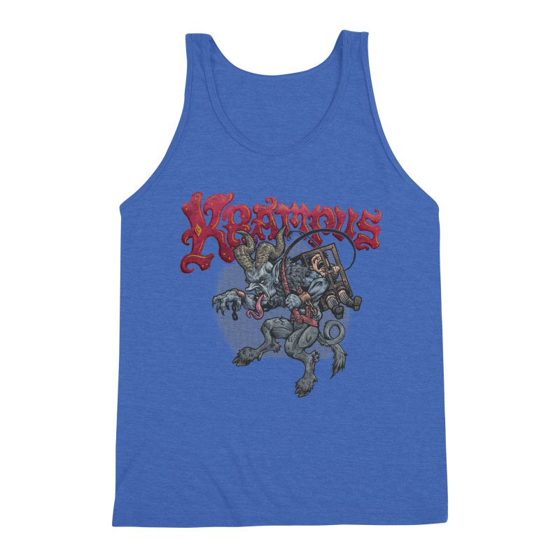 Krampus (Color) Men's Triblend Tank by Octophant's Artist Shop
