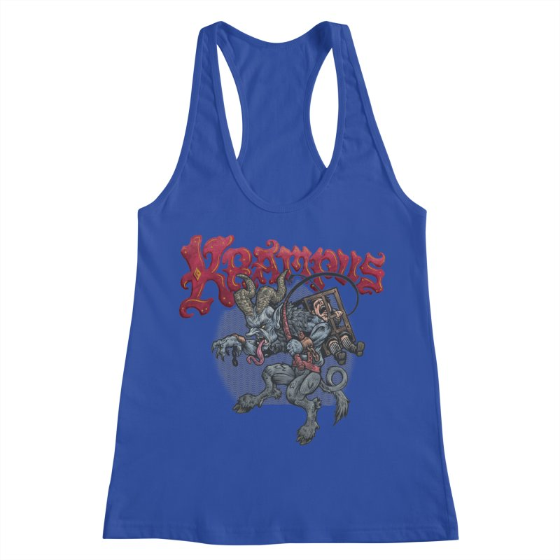 Krampus (Color) Women's Racerback Tank by Octophant's Artist Shop