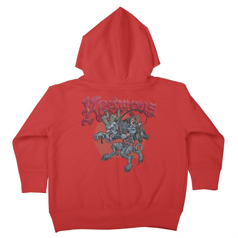 Krampus (Color) Kids Toddler Zip-Up Hoody by Octophant's Artist Shop