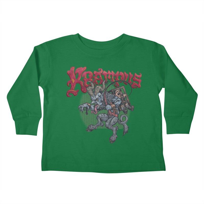 Krampus (Color) Kids Toddler Longsleeve T-Shirt by Octophant's Artist Shop