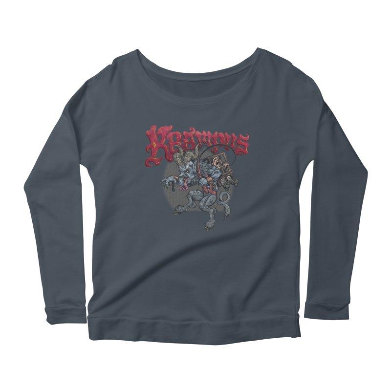 Krampus (Color) Women's Scoop Neck Longsleeve T-Shirt by Octophant's Artist Shop