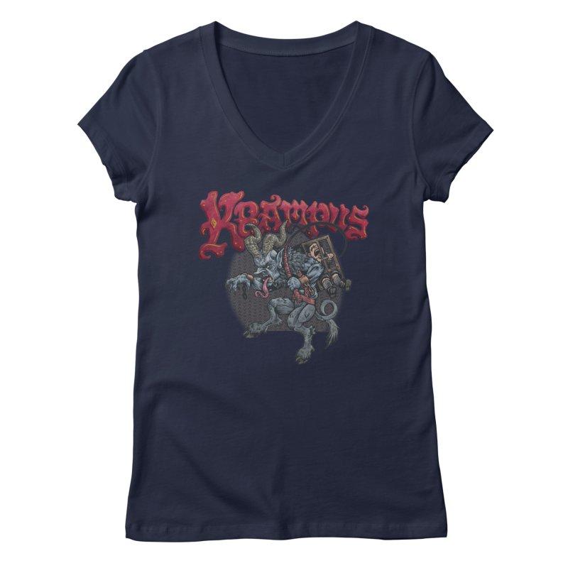 Krampus (Color) Women's Regular V-Neck by Octophant's Artist Shop