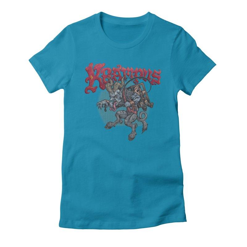 Krampus (Color) Women's T-Shirt by Octophant's Artist Shop