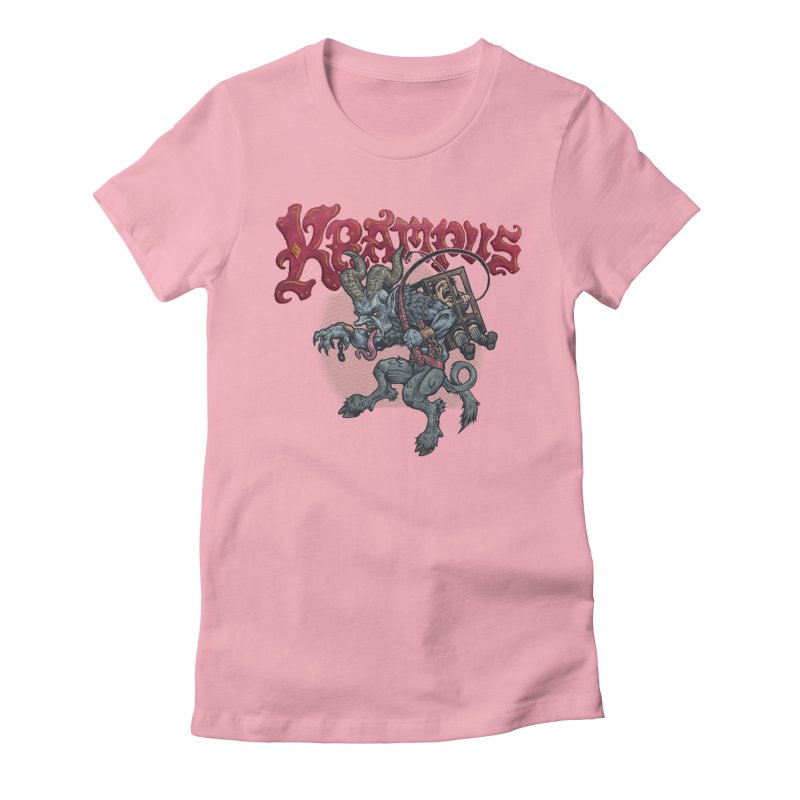 Krampus (Color) Women's Fitted T-Shirt by Octophant's Artist Shop
