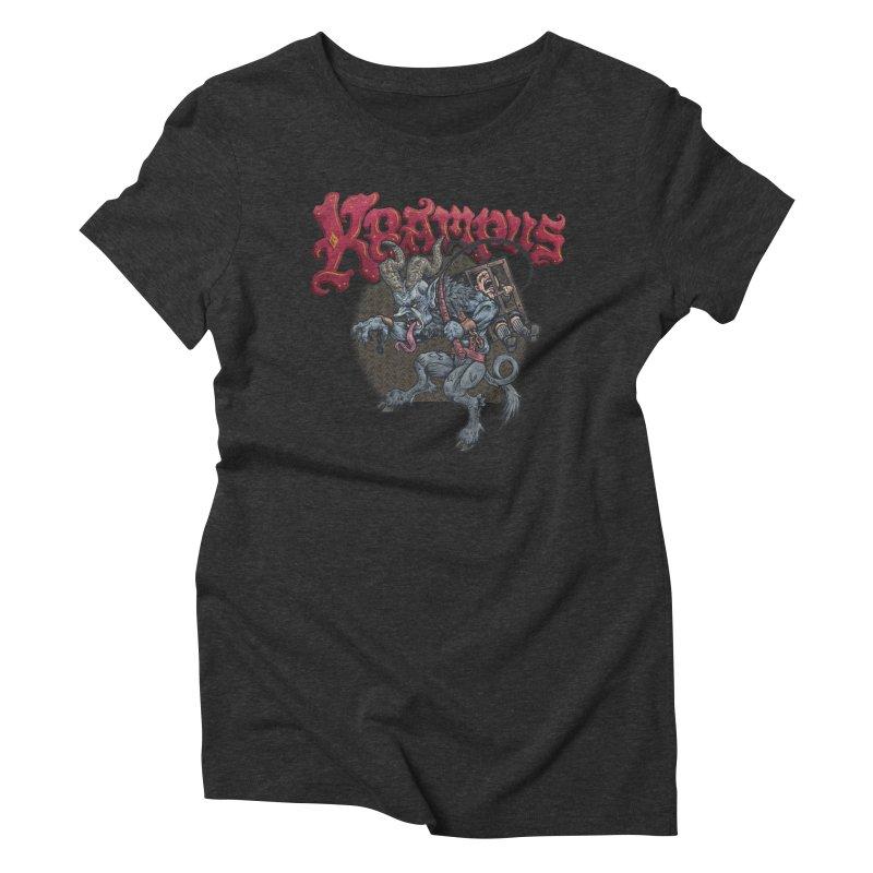 Krampus (Color) Women's Triblend T-Shirt by Octophant's Artist Shop