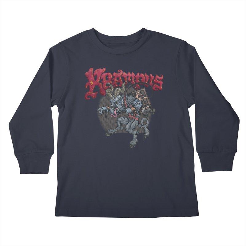 Krampus (Color) Kids Longsleeve T-Shirt by Octophant's Artist Shop