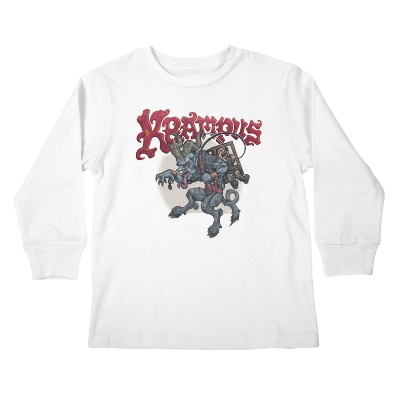 Krampus (Color) Kids Longsleeve T-Shirt by Octophant's Artist Shop
