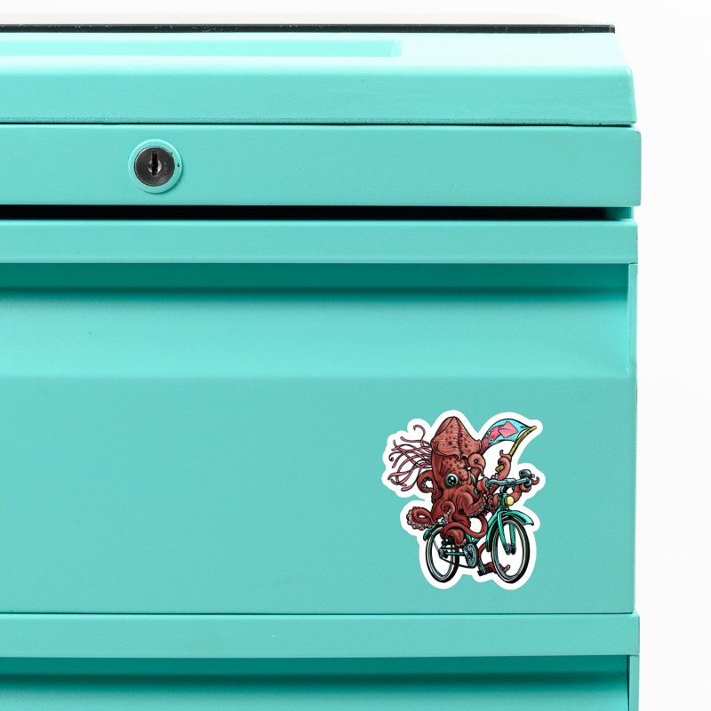 Fixie Squid Accessories Magnet by Octophant's Artist Shop