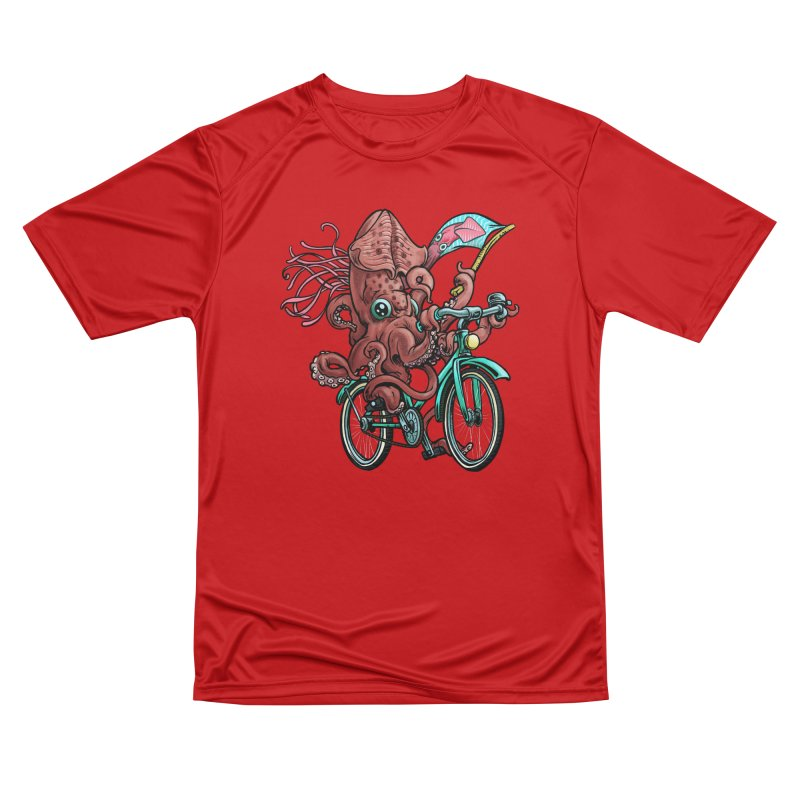 Fixie Squid Men's Performance T-Shirt by Octophant's Artist Shop