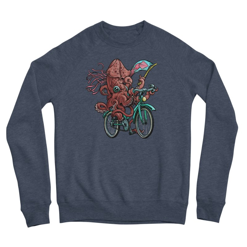 Fixie Squid Women's Sponge Fleece Sweatshirt by Octophant's Artist Shop