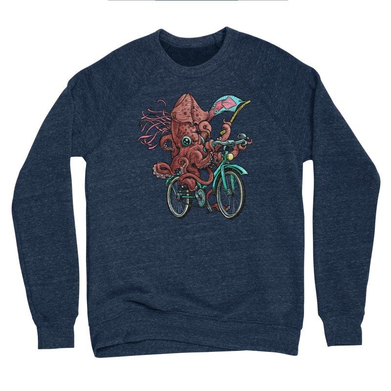 Fixie Squid Men's Sponge Fleece Sweatshirt by Octophant's Artist Shop