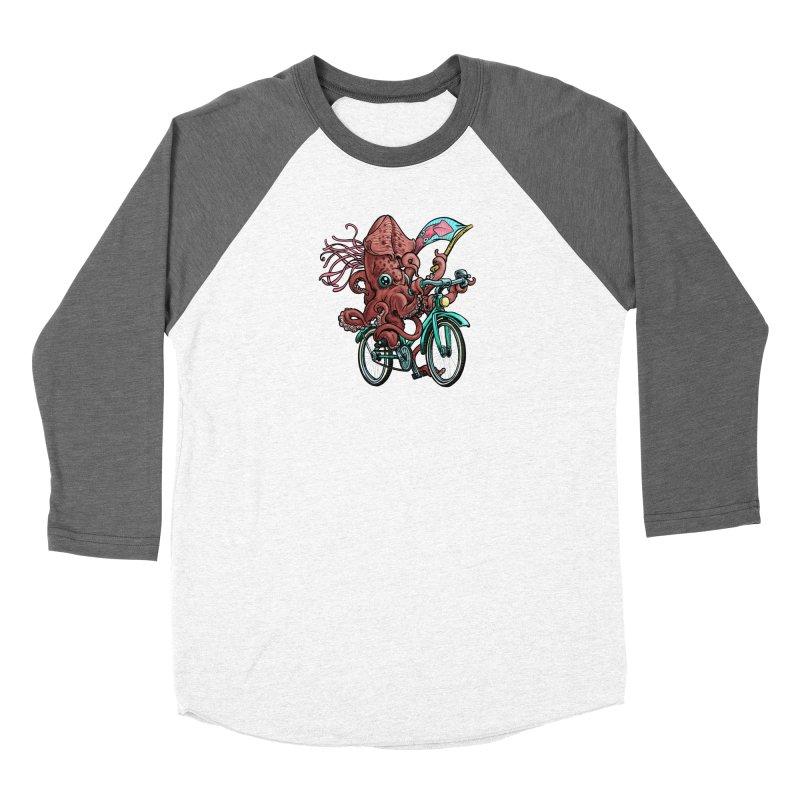 Fixie Squid Women's Longsleeve T-Shirt by Octophant's Artist Shop