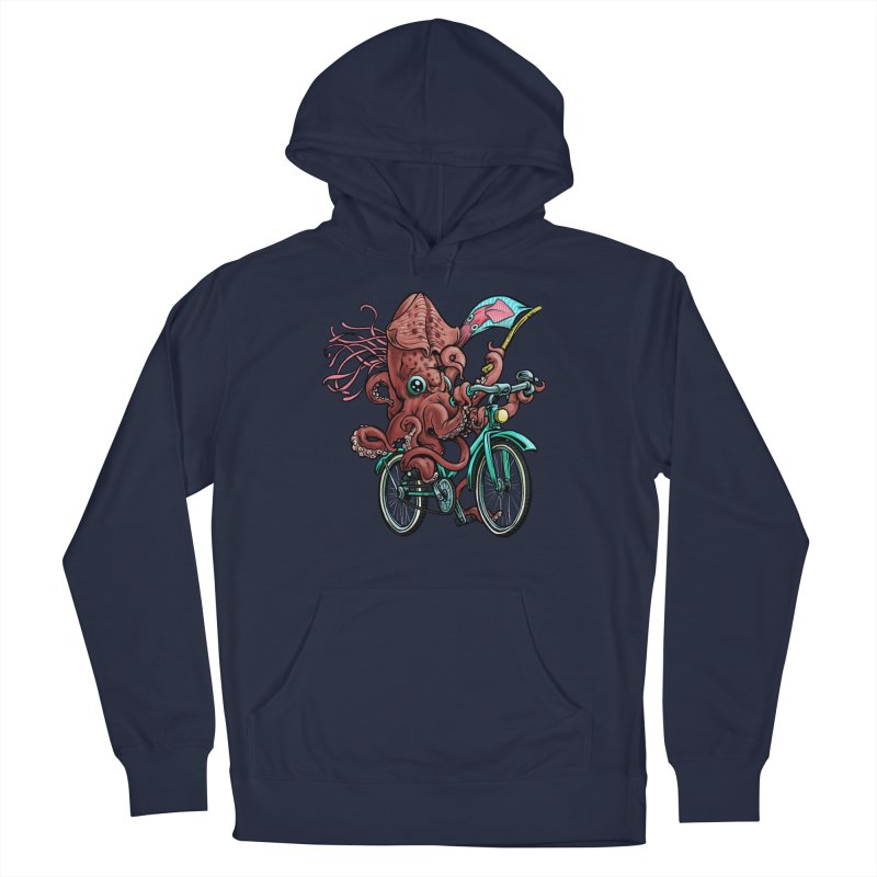 Fixie Squid Women's French Terry Pullover Hoody by Octophant's Artist Shop