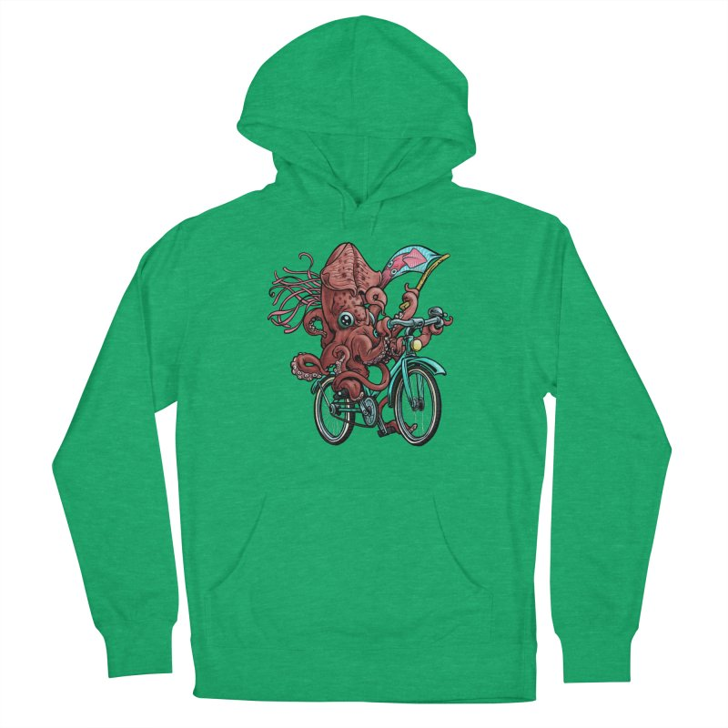 Fixie Squid Men's French Terry Pullover Hoody by Octophant's Artist Shop