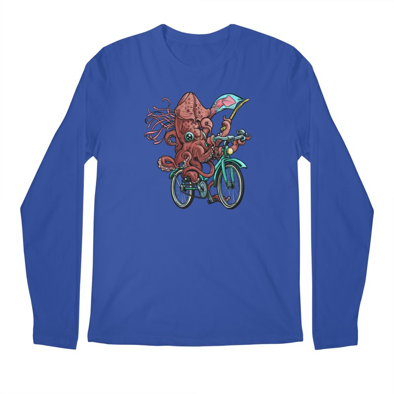 Fixie Squid Men's Regular Longsleeve T-Shirt by Octophant's Artist Shop