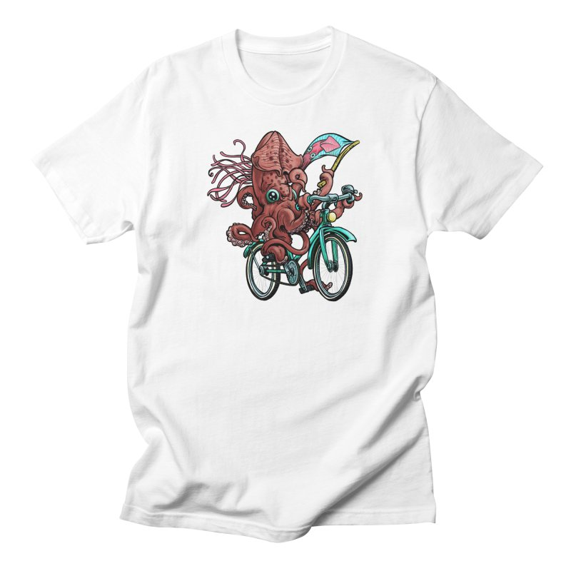 Fixie Squid Men's T-Shirt by Octophant's Artist Shop