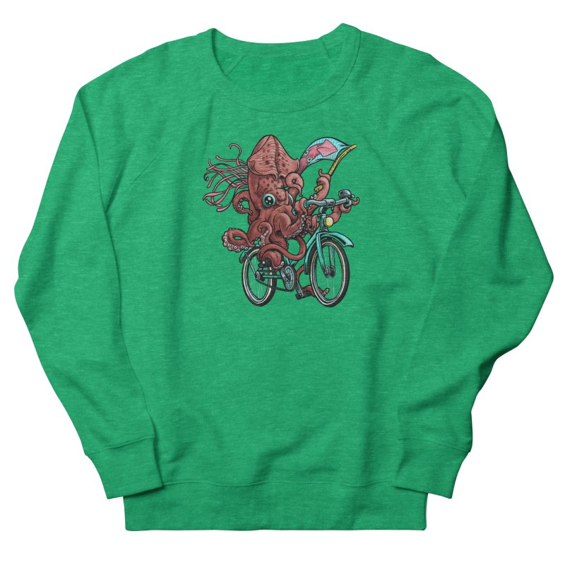 Fixie Squid Women's Sweatshirt by Octophant's Artist Shop