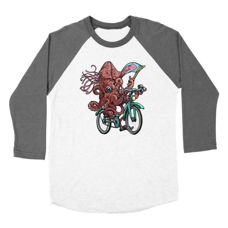 Fixie Squid Men's Baseball Triblend Longsleeve T-Shirt by Octophant's Artist Shop