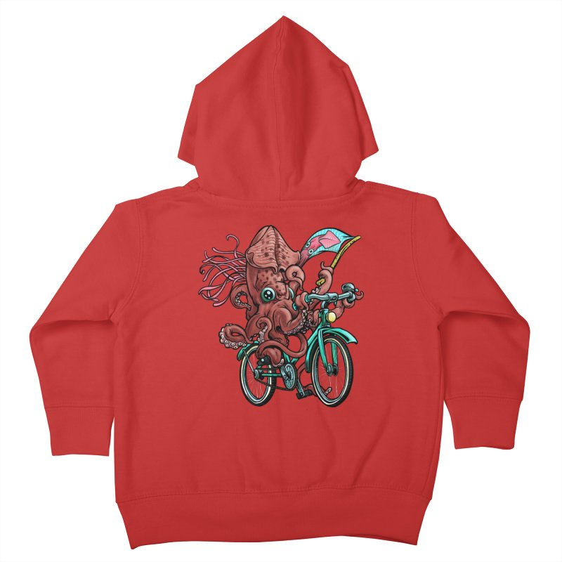 Fixie Squid Kids Toddler Zip-Up Hoody by Octophant's Artist Shop