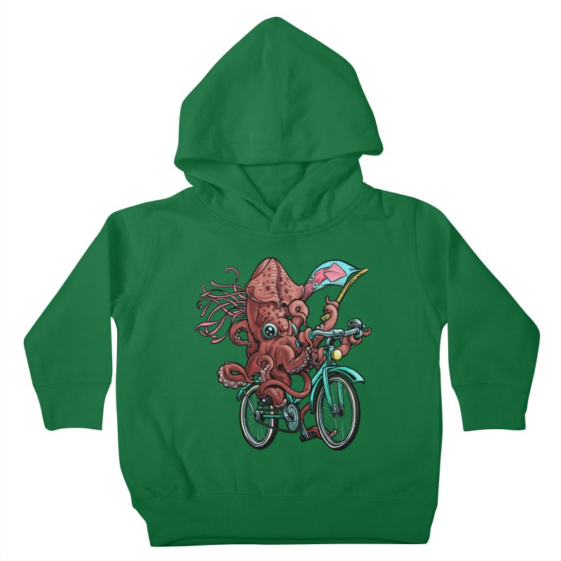 Fixie Squid Kids Toddler Pullover Hoody by Octophant's Artist Shop