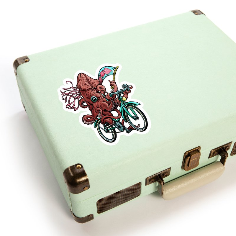 Fixie Squid Accessories Sticker by Octophant's Artist Shop