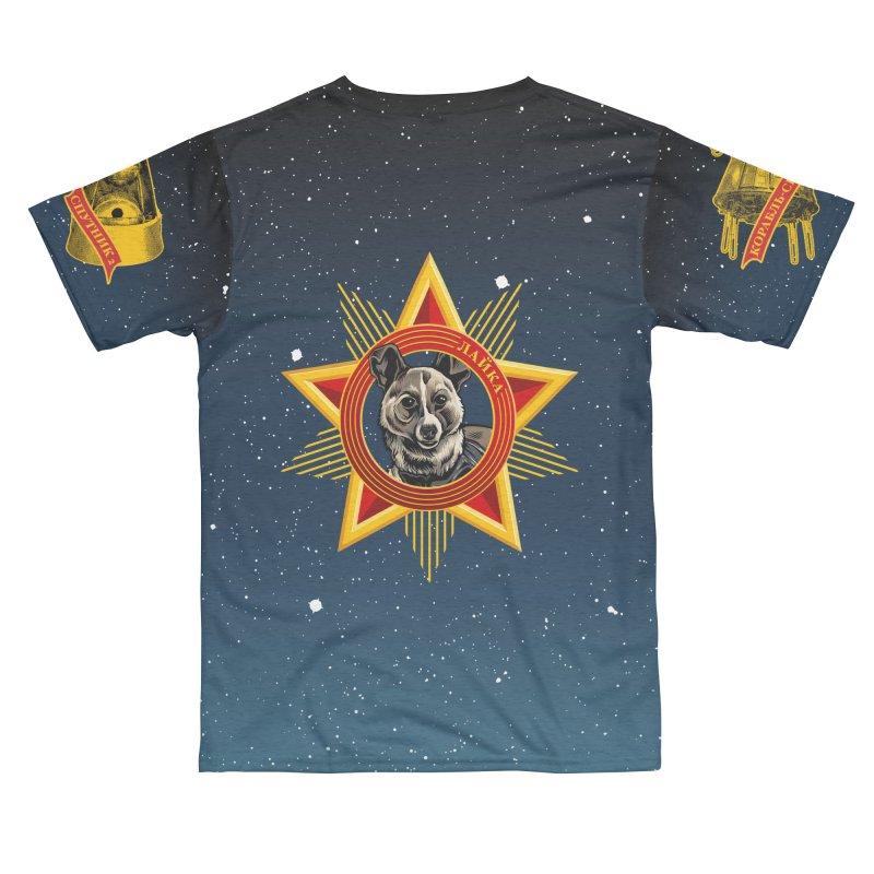 Soviet Space Dogs - Russian Text Men's Cut & Sew by Octophant's Artist Shop