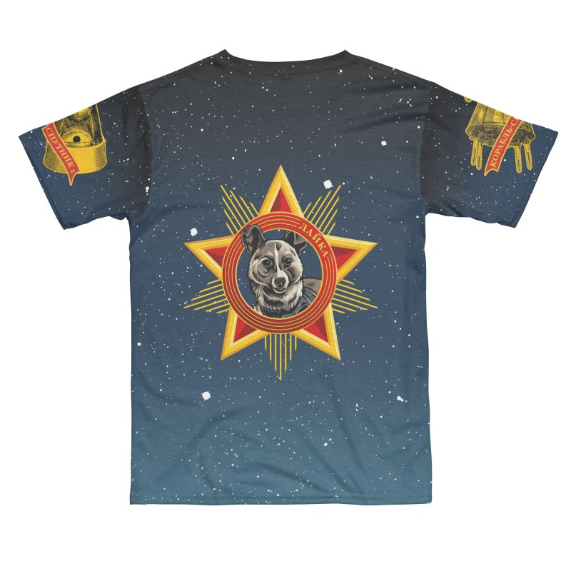 Soviet Space Dogs - Russian Text Women's Cut & Sew by Octophant's Artist Shop
