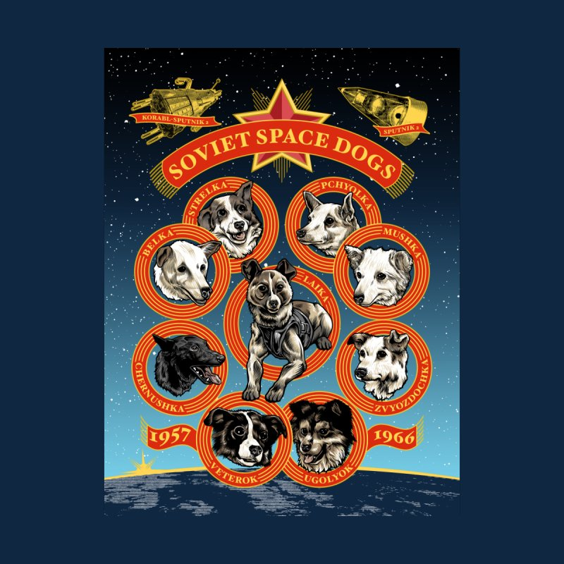 Soviet Space Dogs - English Text Men's Cut & Sew by Octophant's Artist Shop