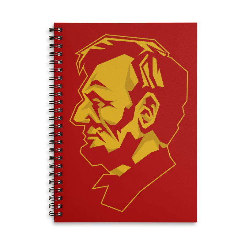 Comrade Lincoln Accessories Lined Spiral Notebook by Octophant's Artist Shop