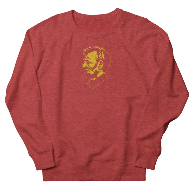 Comrade Lincoln Women's French Terry Sweatshirt by Octophant's Artist Shop